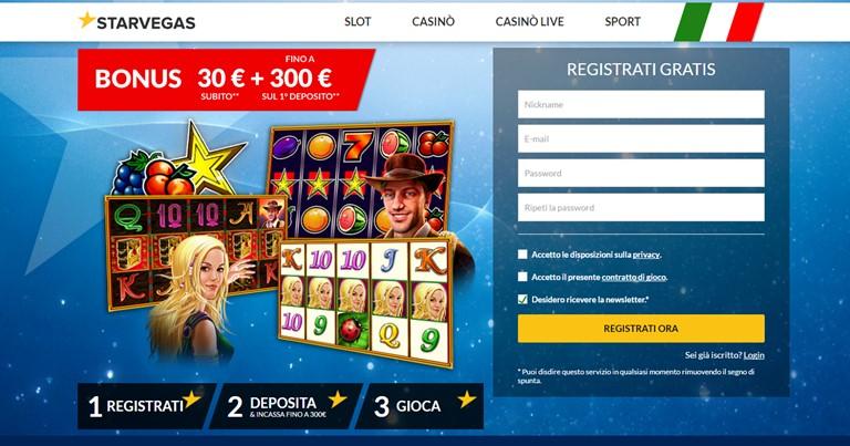Starvegas bonus casino'